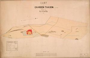 Kart over Nordre Tåsen gård