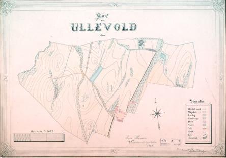 Kart over Store Ullevål gård