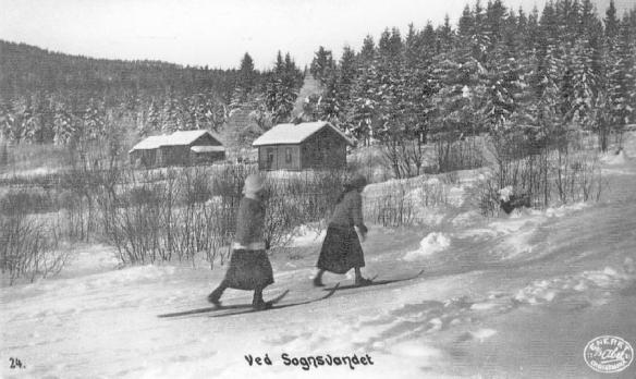 Skiløpere ved Seteren