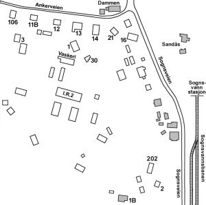 Kart Sognsvannsleiren