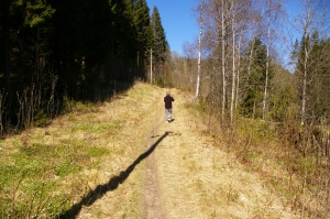 Den amle Nordmarksveien gikk forbi her ved Stensrud.