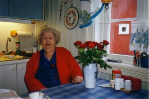 Karla Olsrud som bodde i Dammenstua tidligere