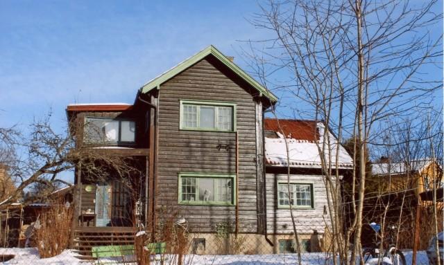 Bull- Hansenfamiliens bolig i Bakkehaugveien 18. Foto: Knut Olborg